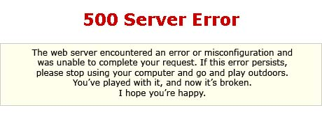 500 server error