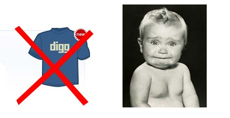 No Digg t-shirt