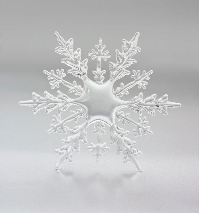 Single snowflake