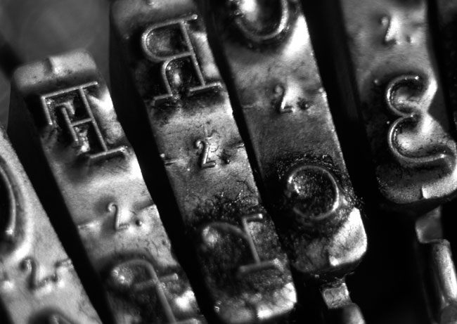 Typewriter close-up