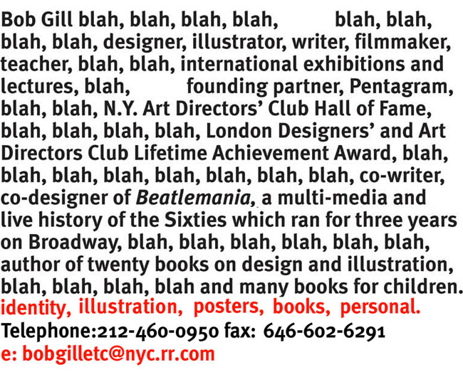 Bob Gill website