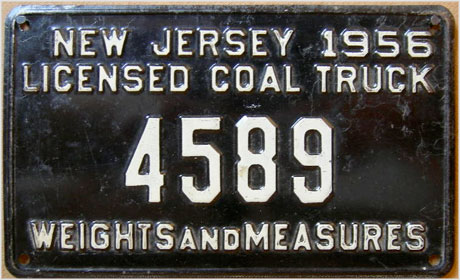 coal truck license plate