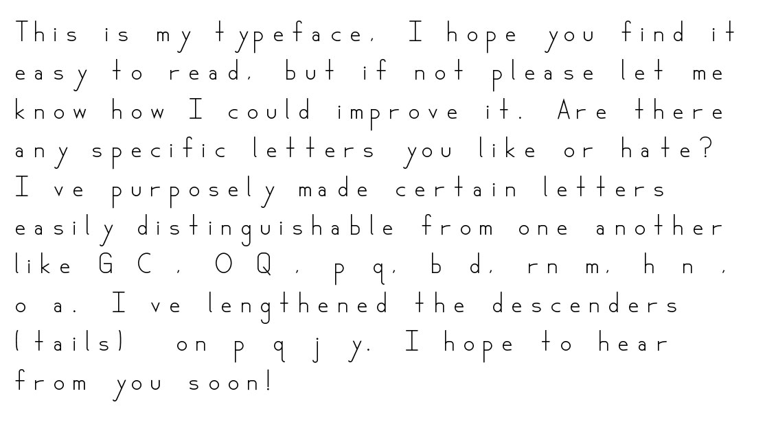 Do you think that I'm dyslexic?