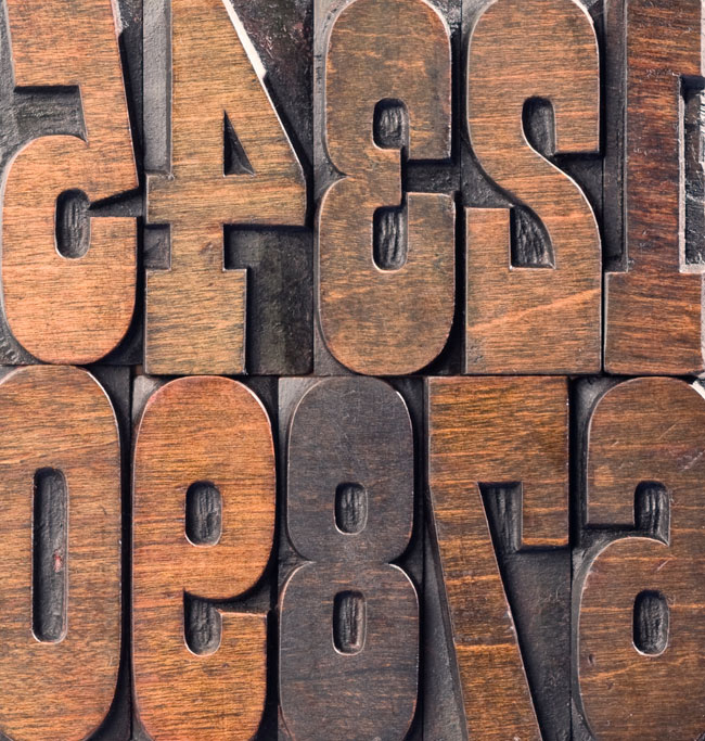 wood type numbers