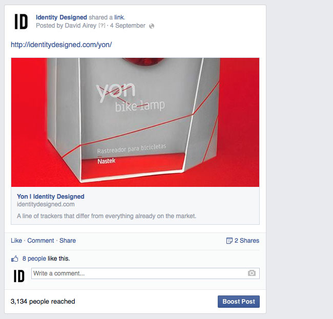 Facebook reach for Work for Money, Design for Love