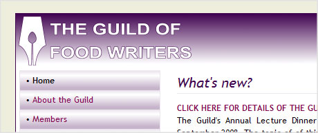 The Guild of Food Writers logo