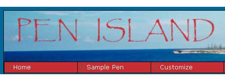 Pen Island website