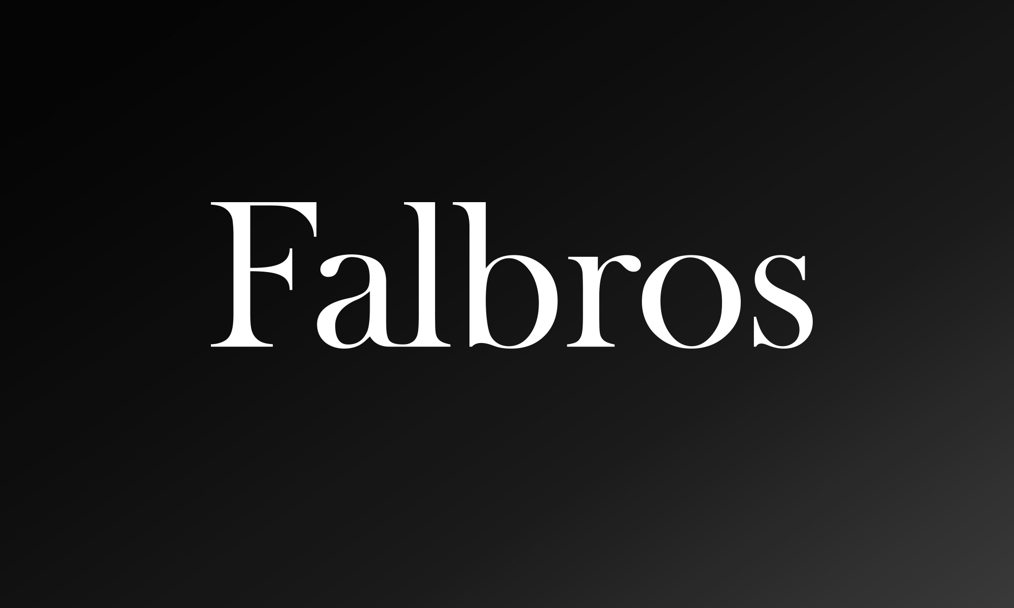 Falbros wordmark