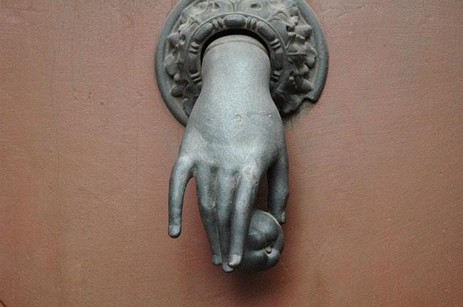 Door knock hand