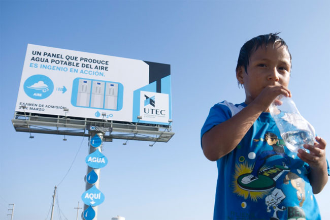 Billboard water air Peru