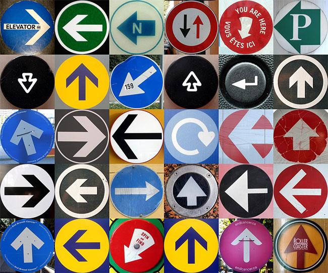 Arrow signage