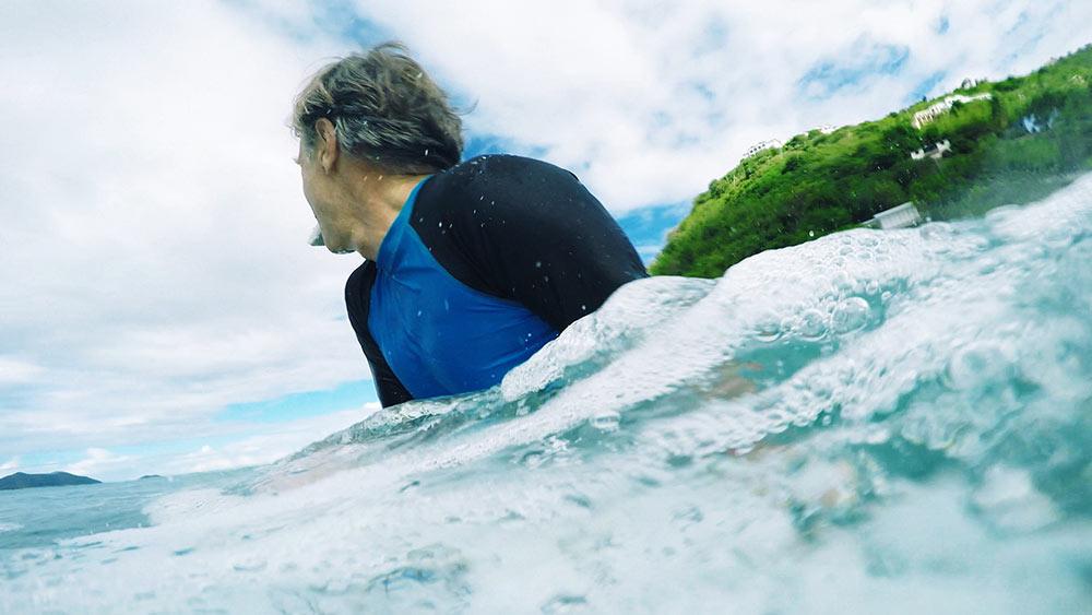 David Carson surfing