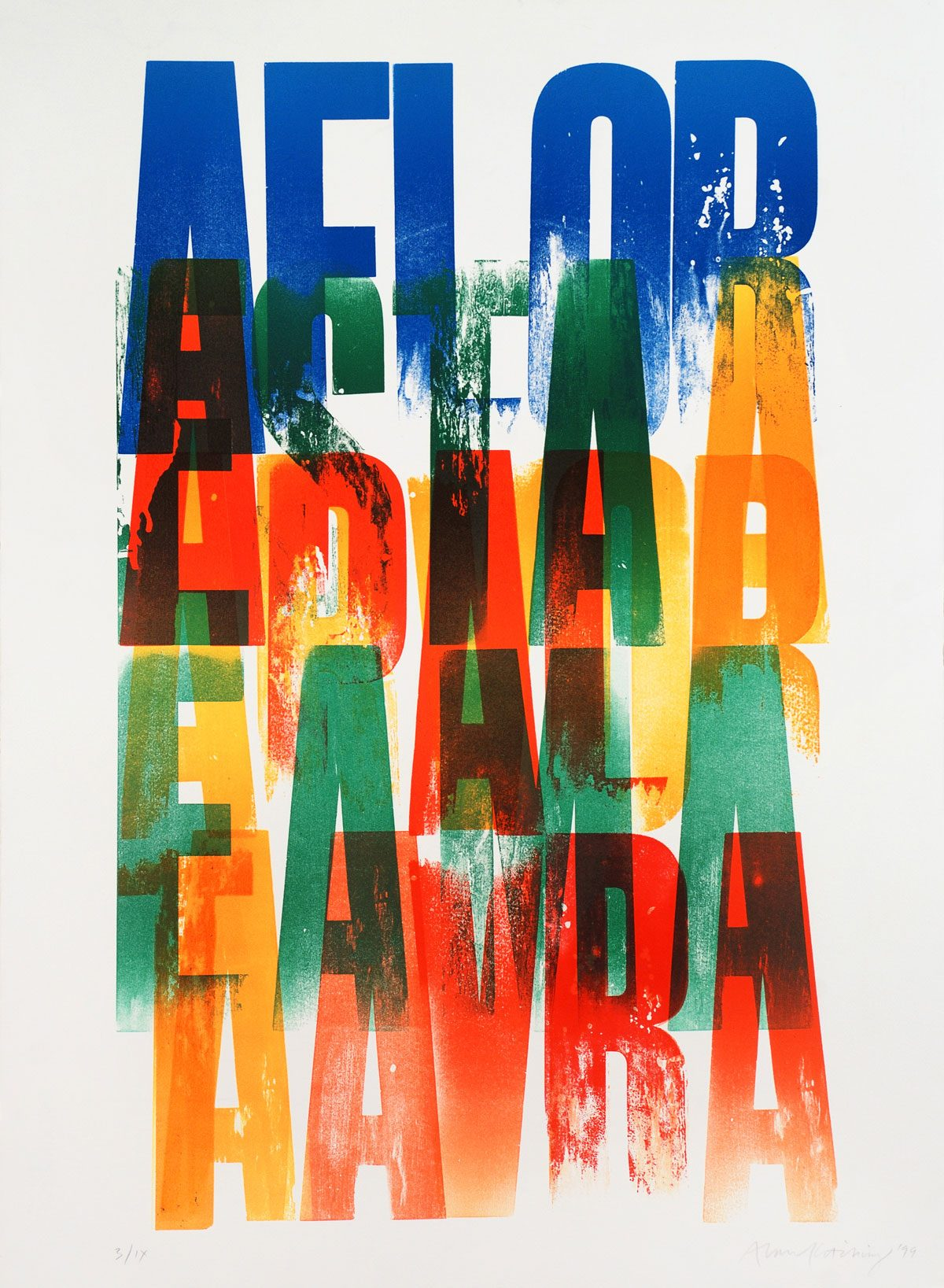 Alan Kitching letterpress print