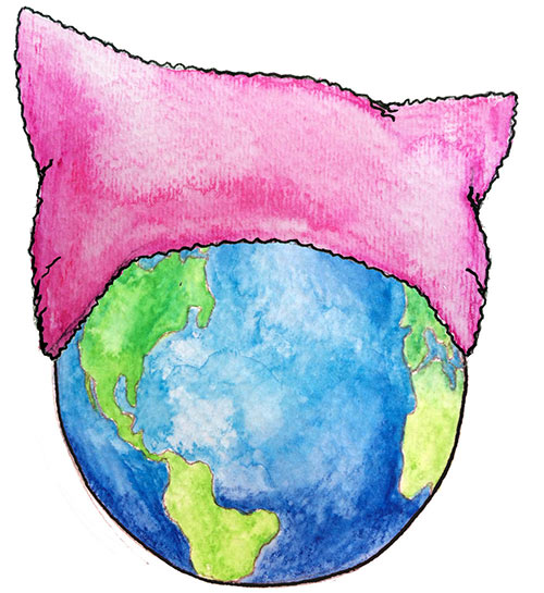 Pink Pussyhat world
