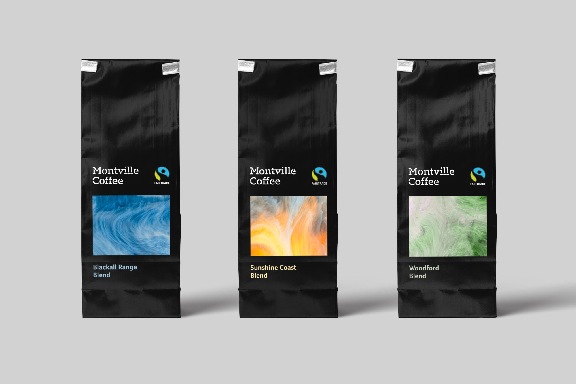 Montville Coffee packaging