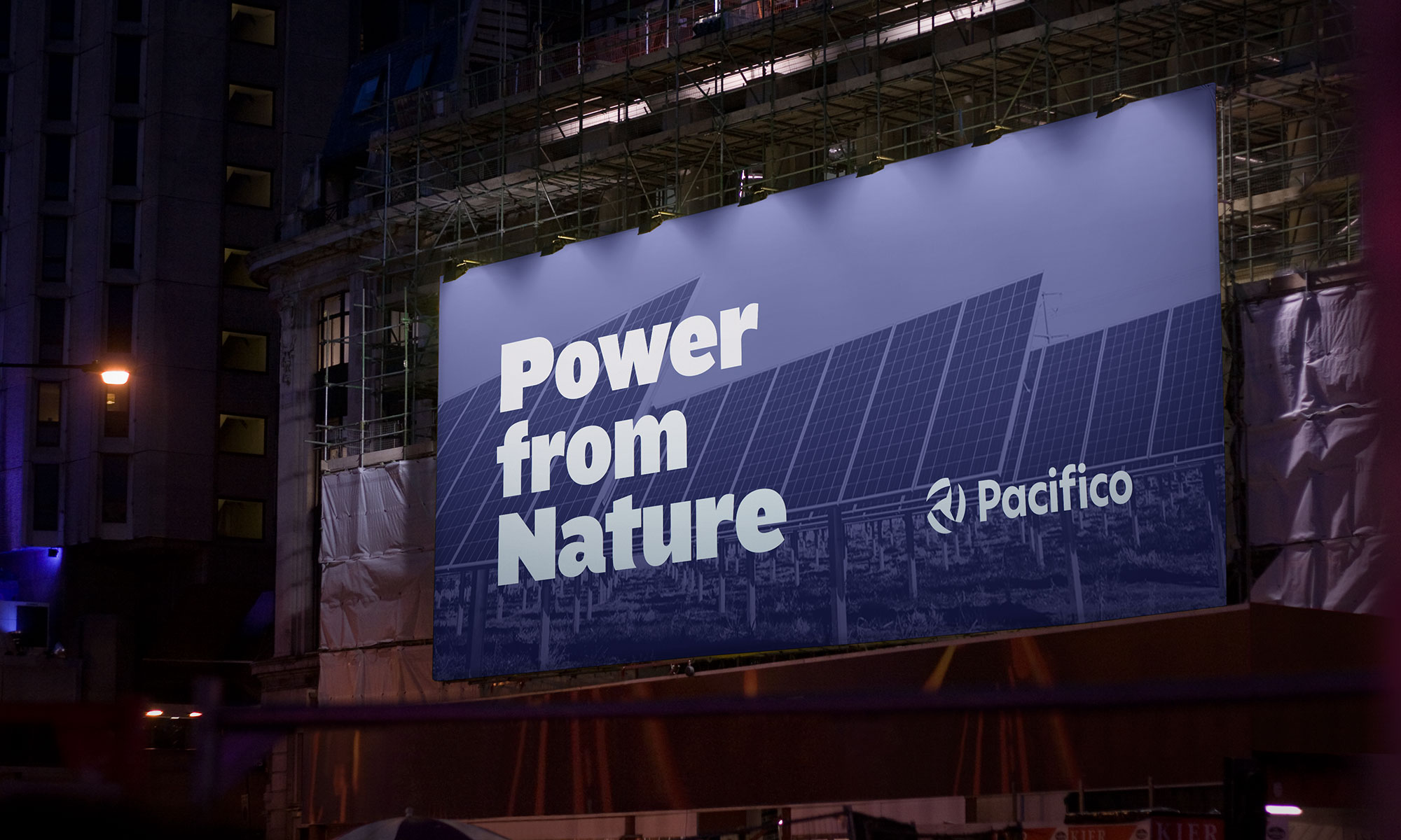 Pacifico Energy billboard