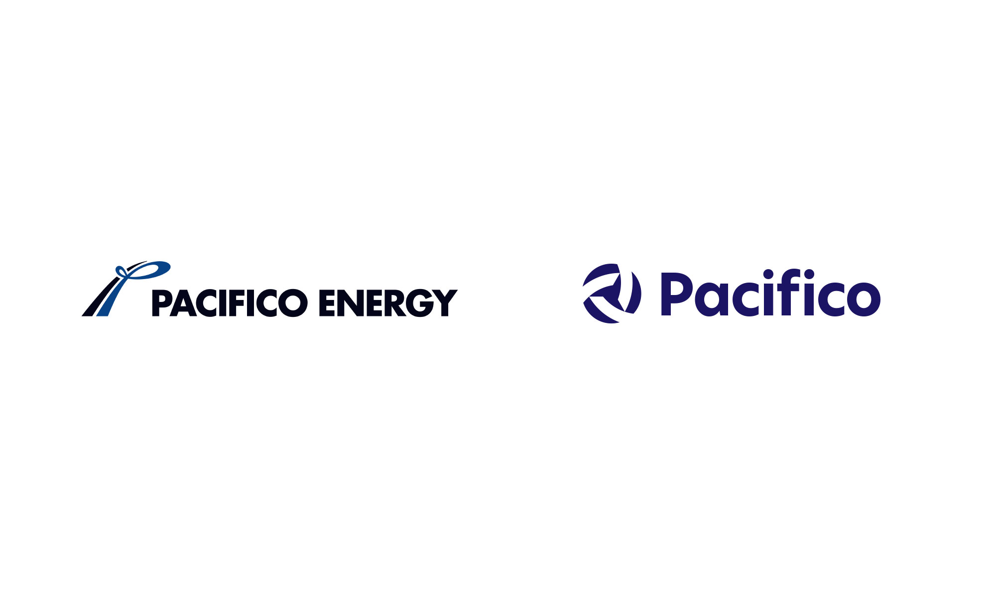 Pacifico Energy logo old new