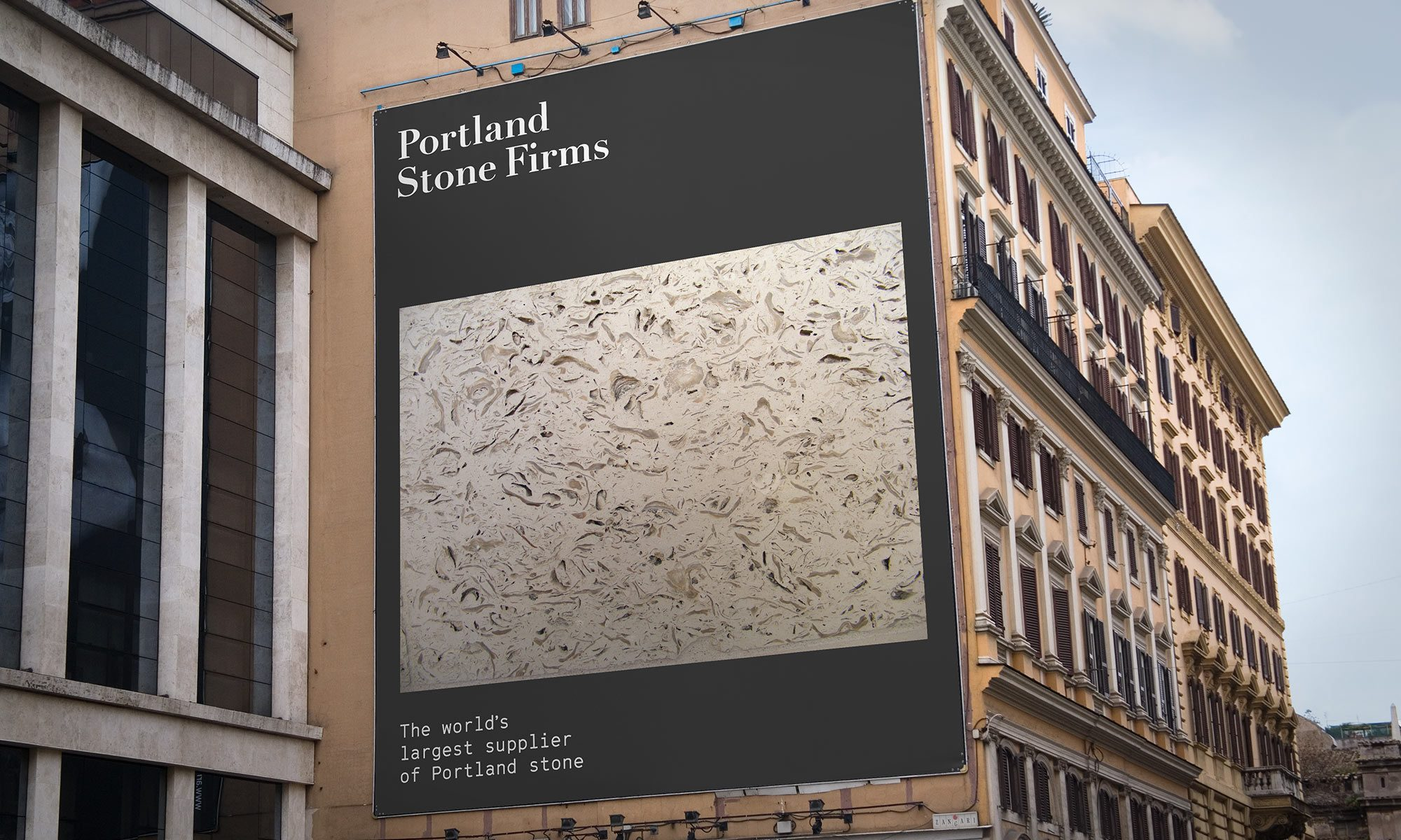 Portland Stone Firms billboard