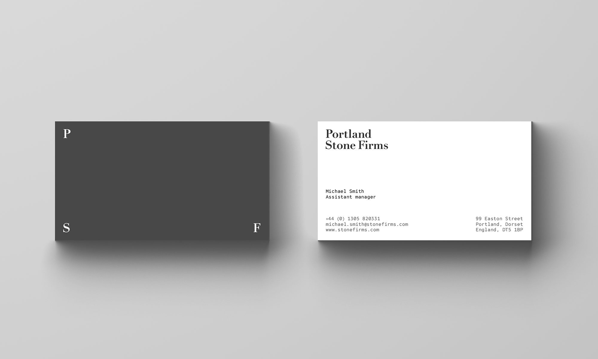 Portland Stone Firms business card