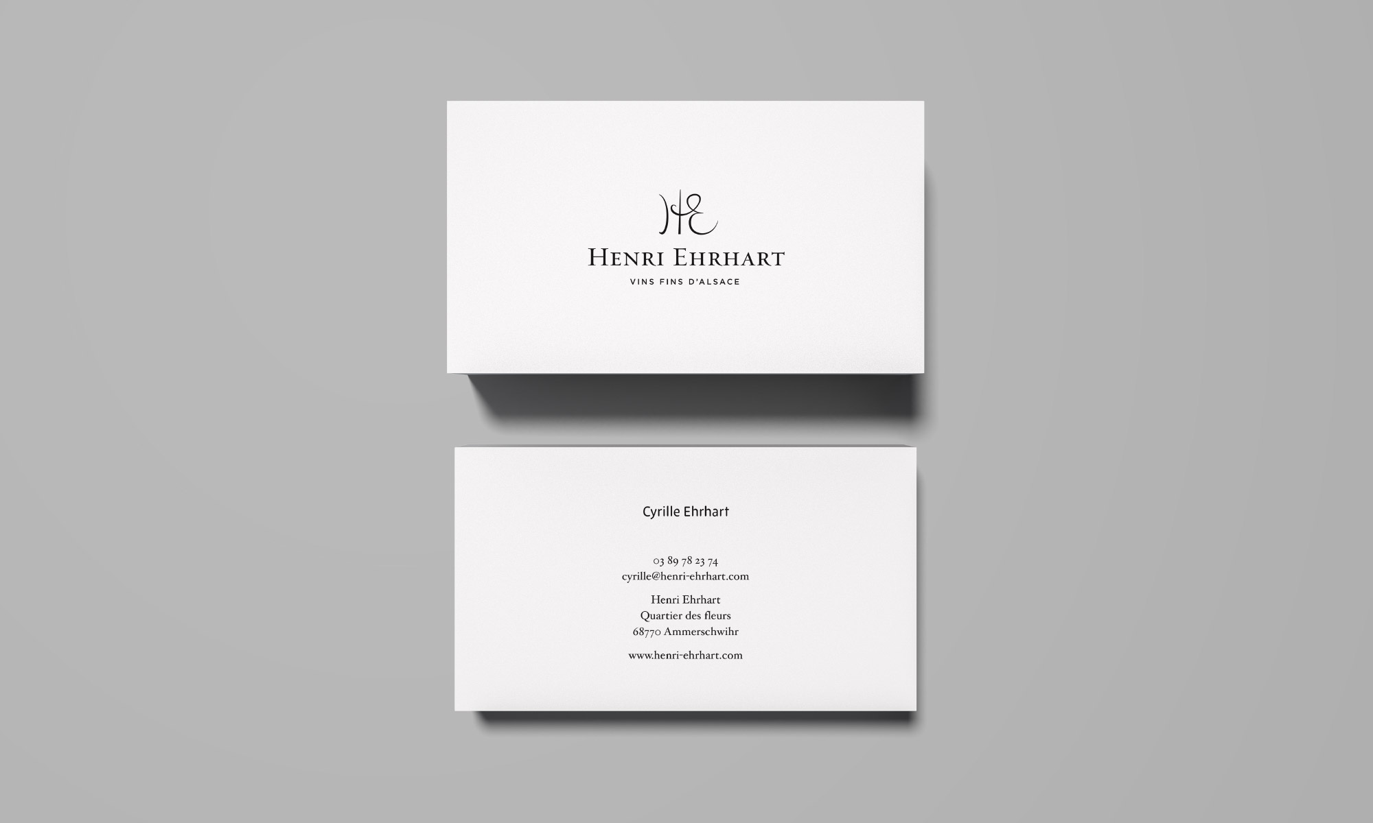 Cyrille Ehrhart business card