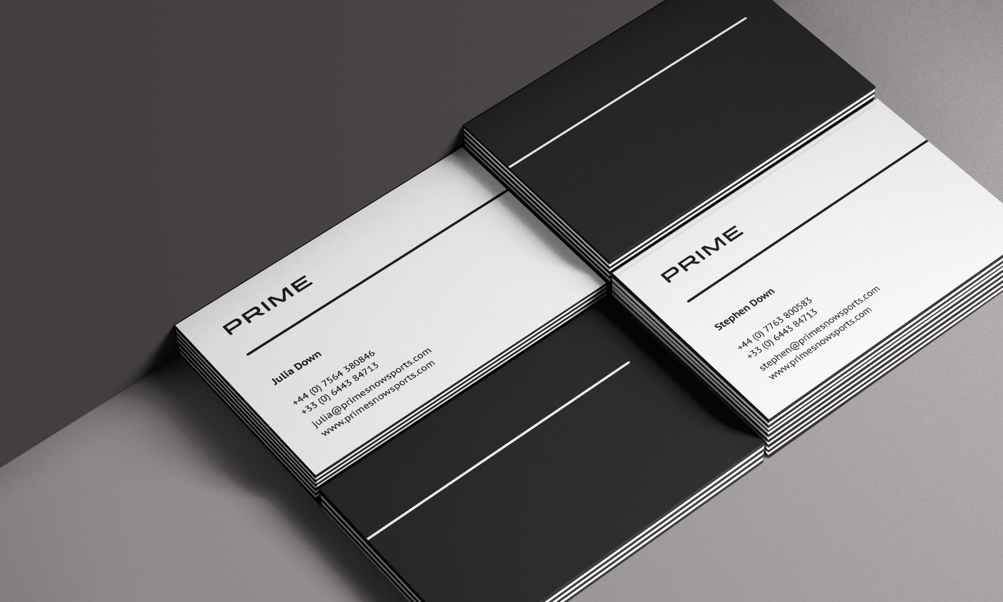Prime Snowsports business cards
