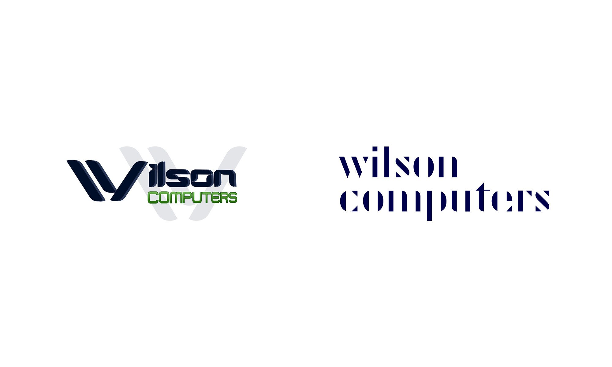 Wilson Computers logo old new