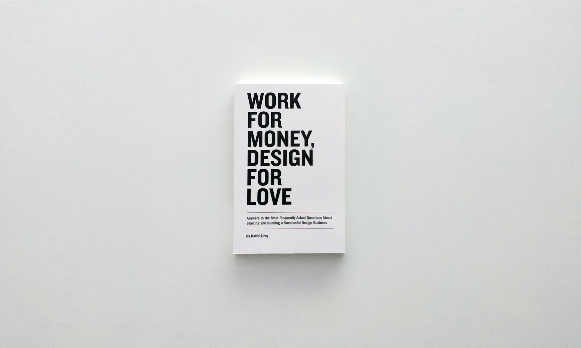 Work for Money Design for Love front cover