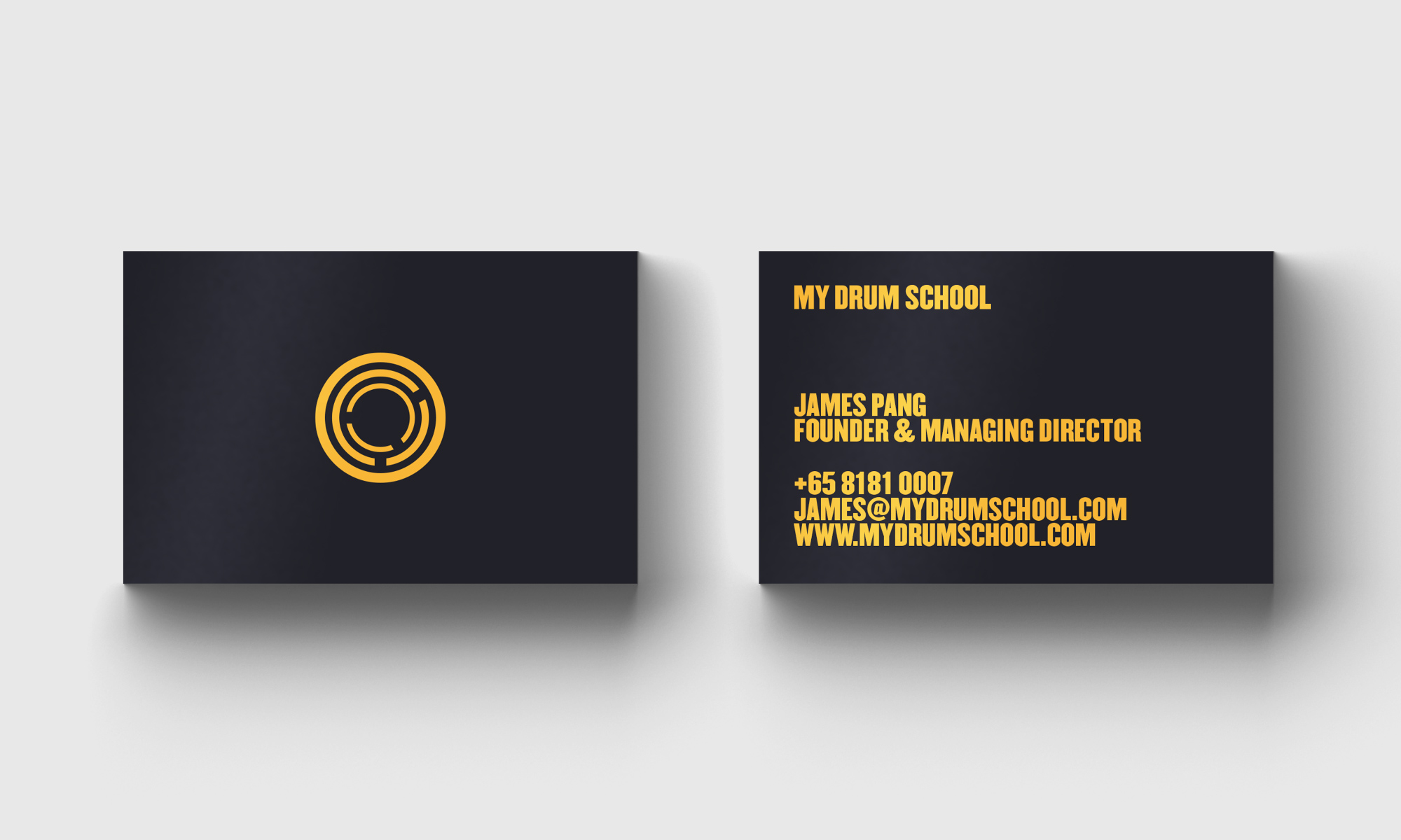 My Drum School business card