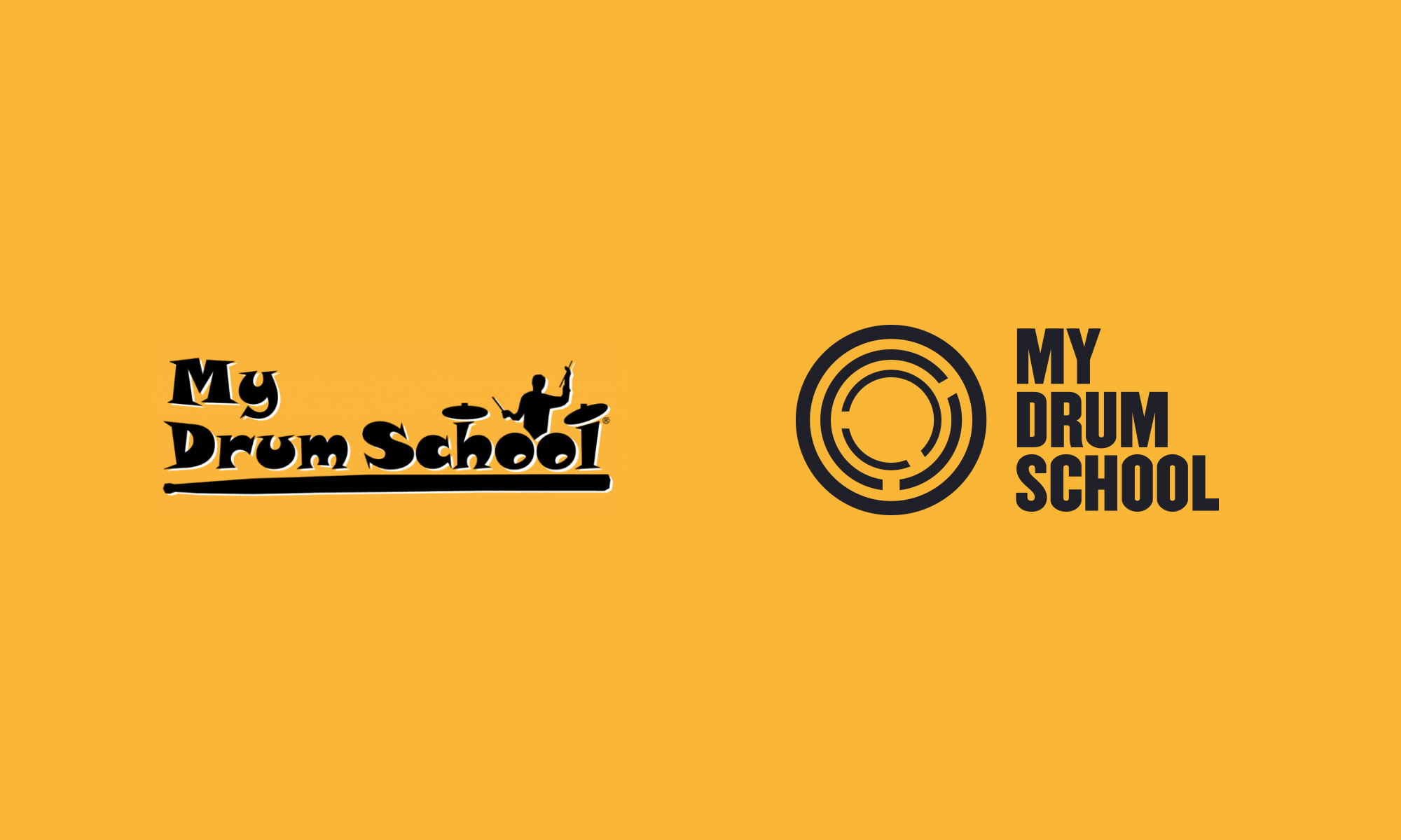 My Drum School logo old new