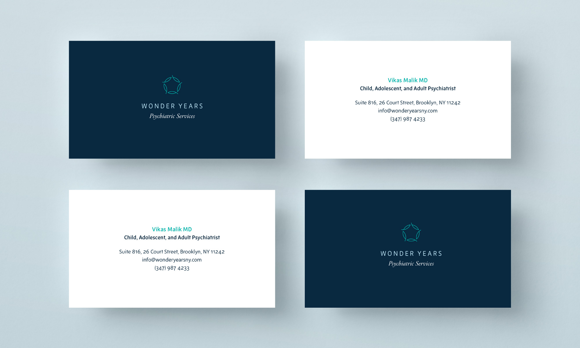 Wonder Years business cards