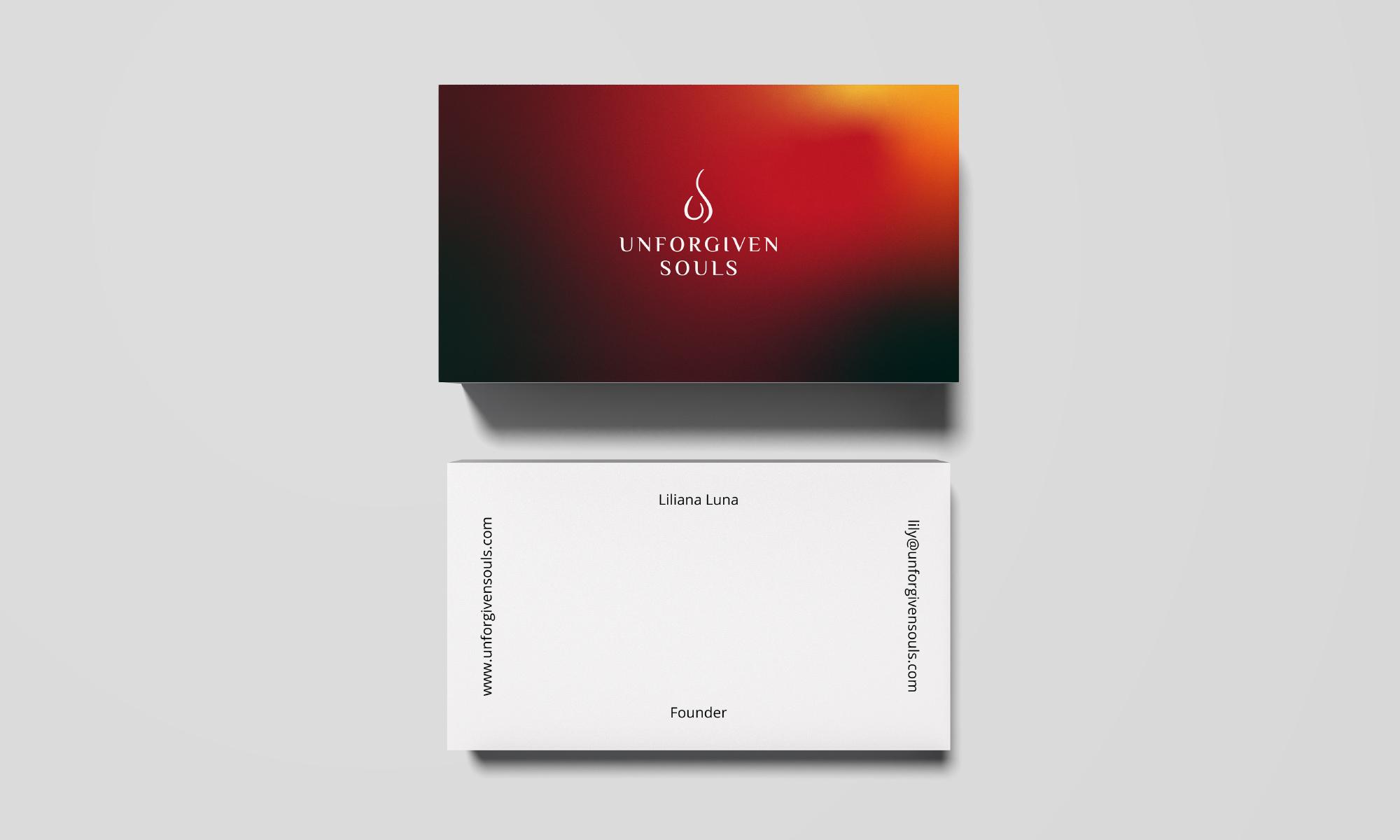 Unforgiven Souls business card