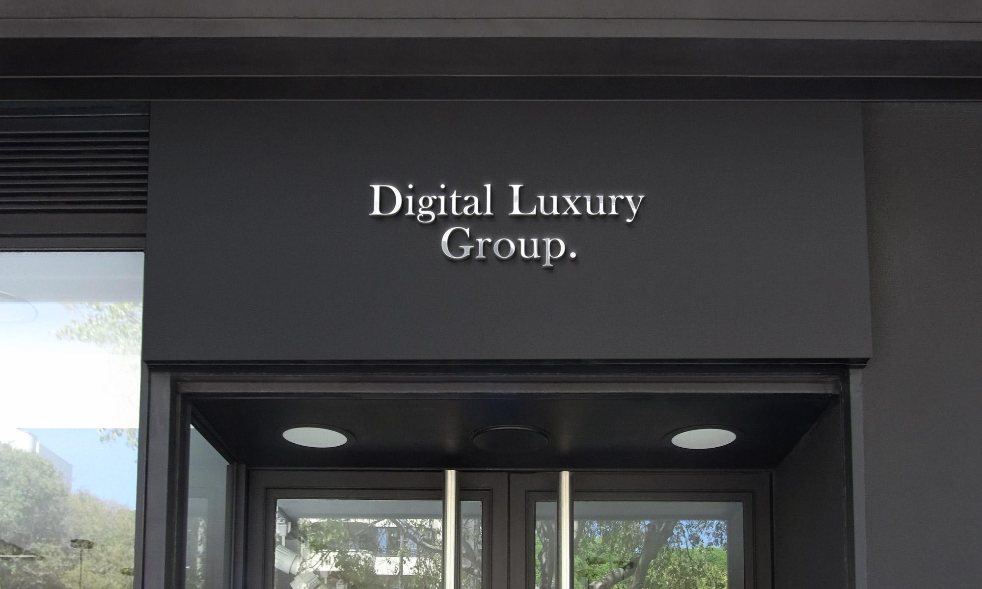 Digital Luxury Group signage