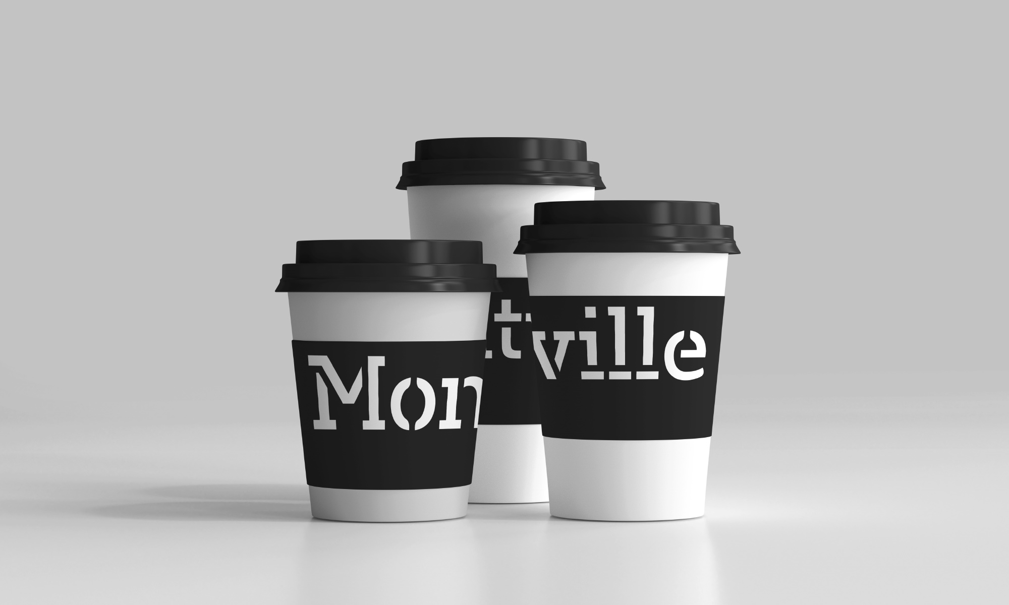 Montville Coffee paper cups