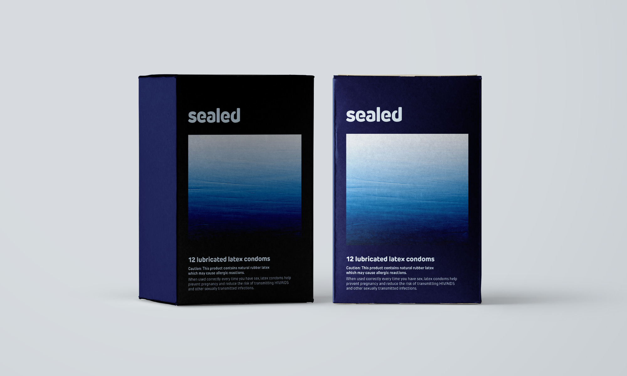 Sealed condom boxes