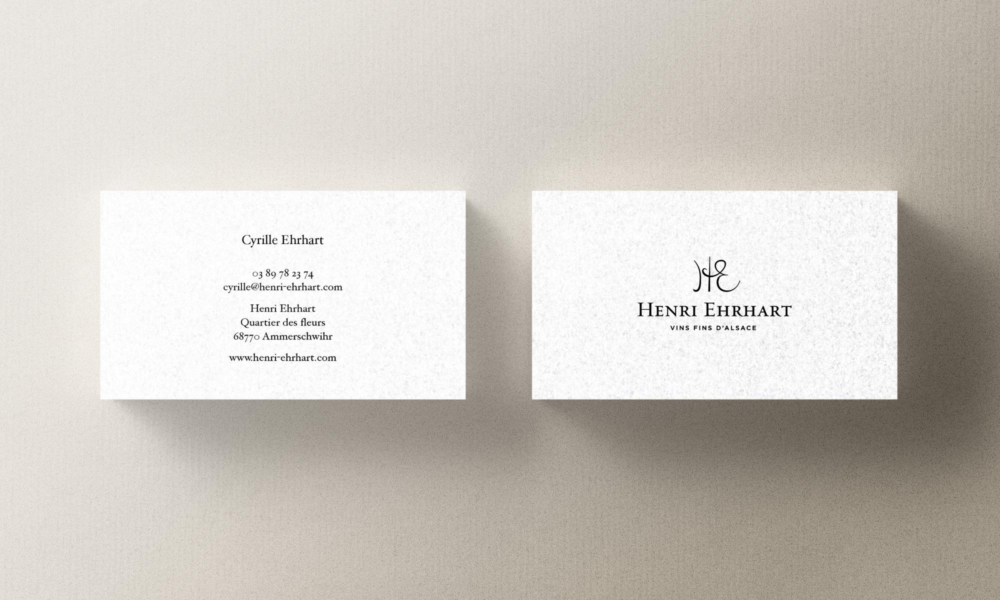 Henri Ehrhart business card