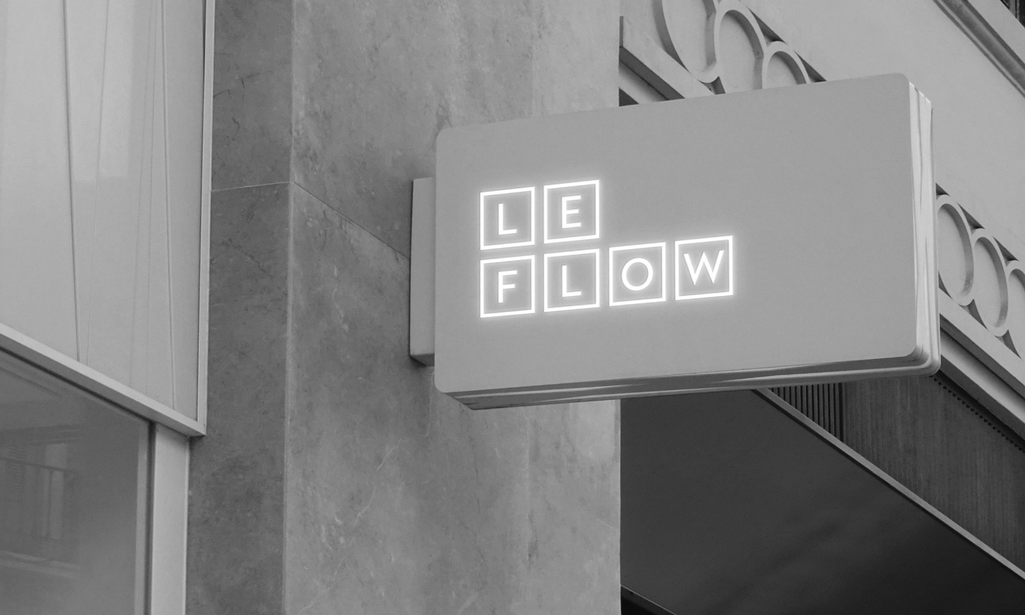 Le Flow logo lightbox